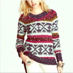 Free People Silver Reed Pullover Sweater K27